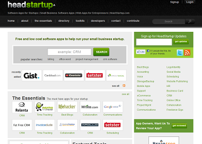 Headstartup Screenshot
