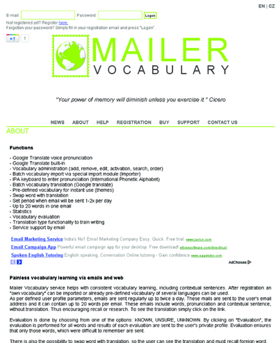 Mailer Vocabulary - Vocabulary Learning by Email