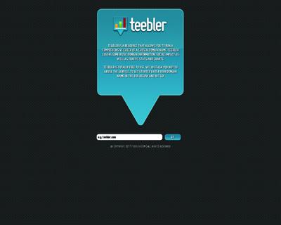 Teebler - Website Evaluation And Stats
