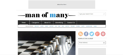 Post image for The Latest in Products, Culture & Style – ManOfMany.com